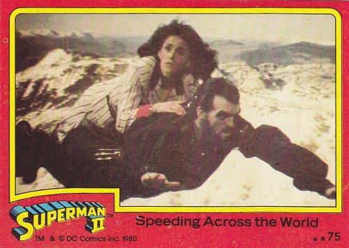 Speeding Across the World #75 - Superman II Comic 1980 Trading Card
