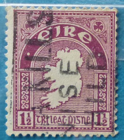 Stamp Ireland 1940 Definitive Map 1.5 ans 2 Penny