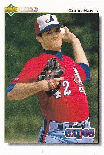 Chris Haney #662 - Expos 1992 Upper Deck Baseball Trading Card