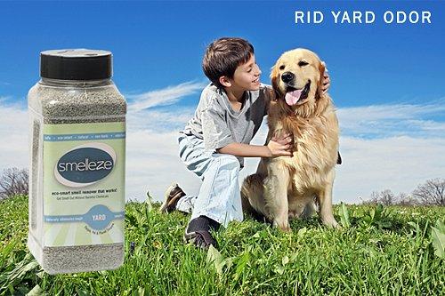 SMELLEZE Eco Yard & Concrete Smell Removal Deodorizer: 50 Lb. Granules Rid Odor