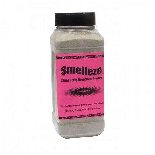 SMELLEZE Natural Skunk Spray Odor Eliminator: 50 lb. Powder Gets Foul Stench Out