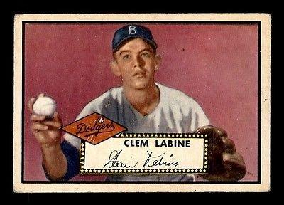 Vintage Vintage RARE 1952 Topps #342 Clem Labine RC VG