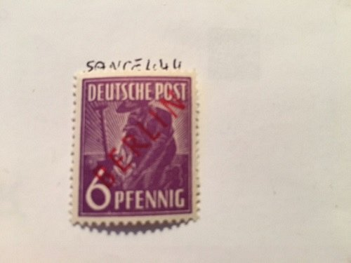 Germany Berlin Red Overp. 6p mnh 1949