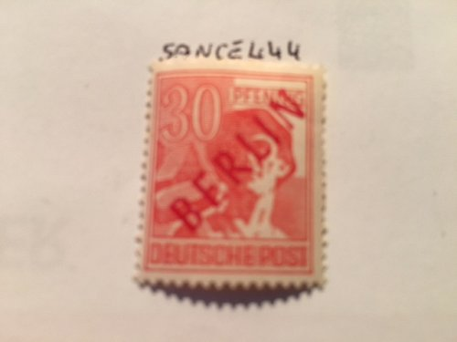 Germany Berlin Red Overp. 30p mnh 1949