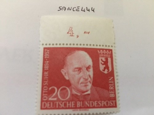 Germany Berlin Otto Suhr mnh 1958