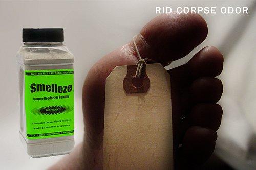 SMELLEZE Eco Corpse Odor Eliminator Deodorizer: 50 lb. Powder Removes Death Odor