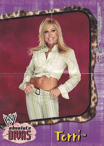 Terri - WWE Absolute Divas 2002 Wrestling Mini Poster - Purple boarder