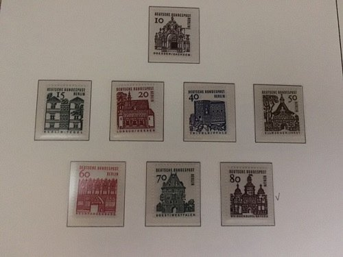 Germany Berlin Buildings mnh 1964