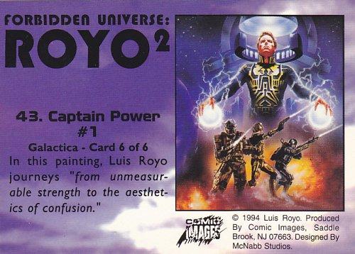 Captain Power #1 - Royo 2 1994 Fantasy Art Trading Card