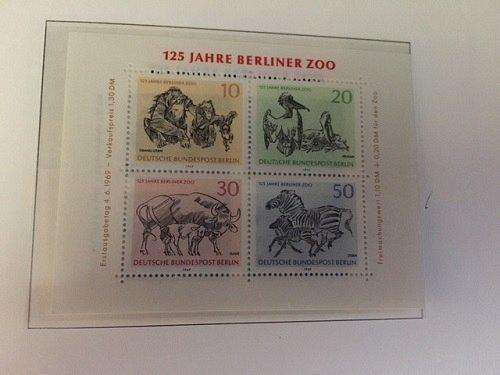 Germany Berlin Zoo s/s mnh 1969