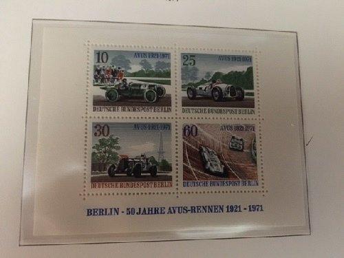 Germany Berlin Avus Races s/s mnh 1971