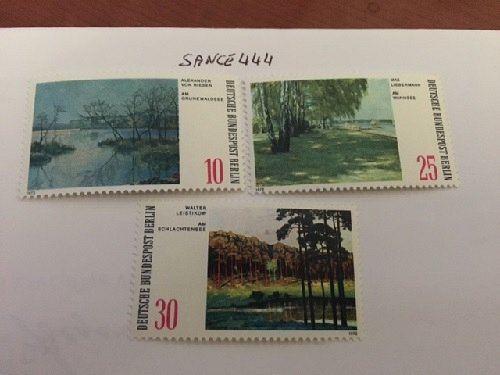 Germany Berlin Landscapes Paintings mnh 1972