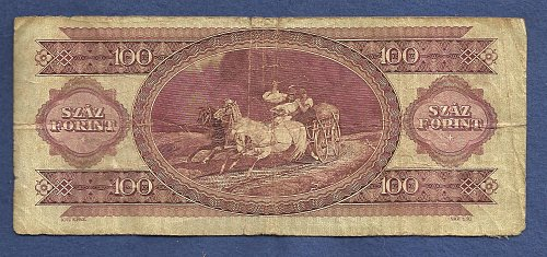 Hungary 100 Forint 1984 Magayar Nemzeti Bank Banknote 015645