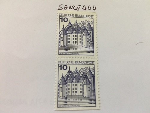 Germany Castle strip 10+10 imperf mnh 1977 #2