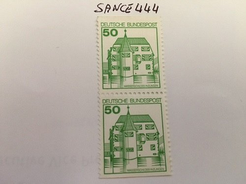 Germany Castle strip 50+50 imperf mnh 1980