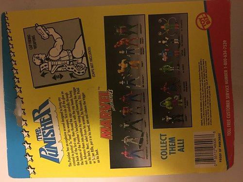 Vintage 1990s Marvel Superheroes Punisher w Cap Firing Weapons New in original Box