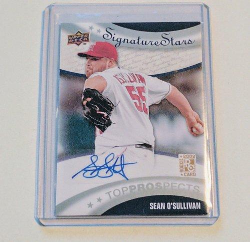 MLB SEAN O'SULLIVAN AUTOGRAPHED 2009 UPPER DECK SIGNATURE STARS MINT