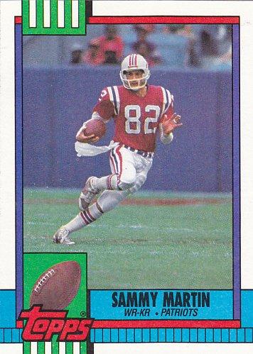 Sammy Martin #422 - Patriots 1990 Topps Football Trading Card