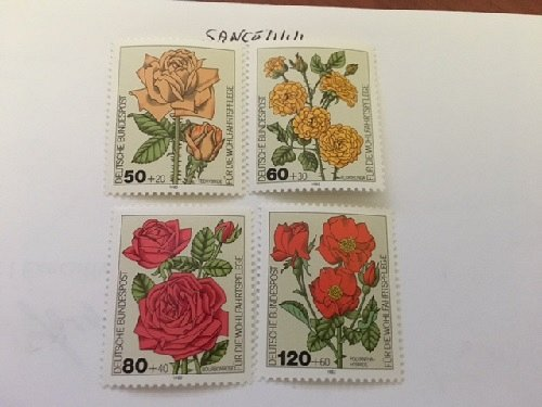 Germany Welfare Roses 1982 mnh