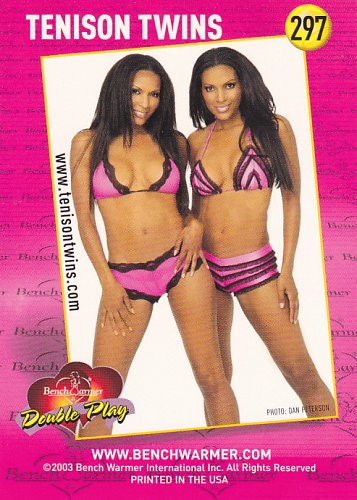 Tenison Twins #297 - Bench Warmers 2003 Sexy Trading Card