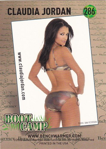 Claudia Jordan - 2003 Sexy Bench Warmers Trading Card #286