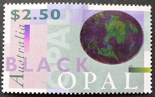 Stamp Australia 1995 Minerals Black Opal $2.50