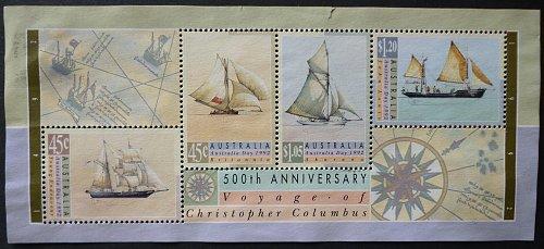 Stamp Australia 1992 Australia Day 4v Souvenir Sheet