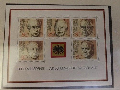 Germany Presidents s/s mnh 1982