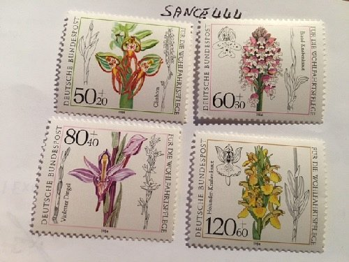 Germany Welfare Orchids mnh 1984