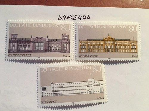 German Buildings mnh 1986