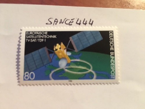 German French/German satellite mnh 1986