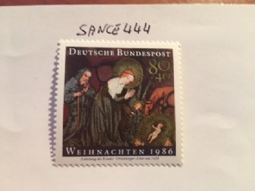Germany Christmas mnh 1986