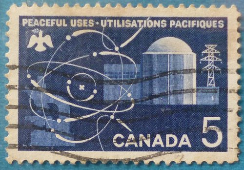 Stamp Canada 1966 Peaceful Uses of Atomic Energy 5c