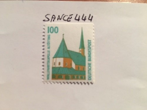 Germany Sights 100p top imperf. mnh 1989