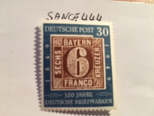 Germany Anniversary of the German Stamp 30p mnh 1949
