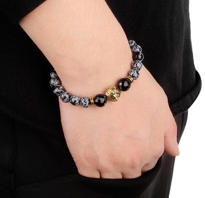 lion head alloy bracelet