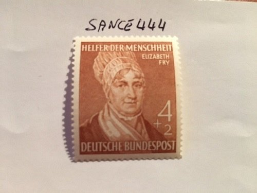 Germany Welfare, famous persons 4+2p mnh 1952