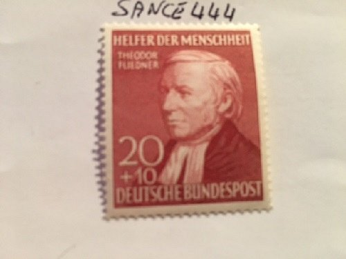 Germany Welfare famous persons 20+10p mnh 1952