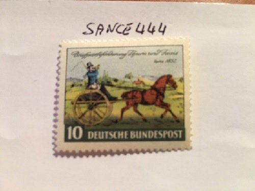 Germany Thurn & Taxis stamp centenary mnh 1952