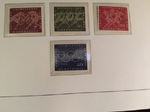 Germany Olympic Games Rome mnh 1960