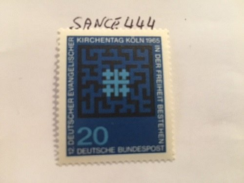 Germany Evangelic day mnh 1965