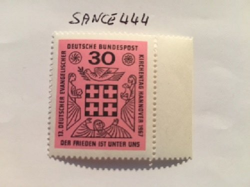 Germany Evangelic day mnh 1967