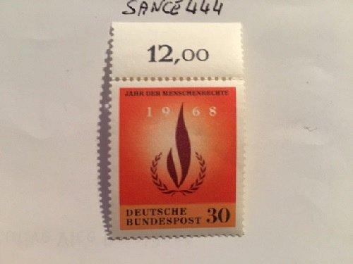 Germany Human rights mnh 1968