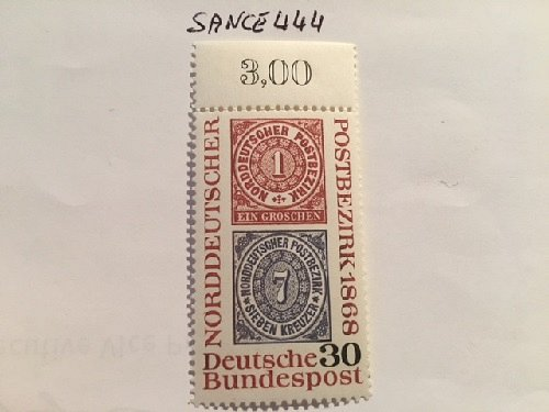 Germany Northern German stamp centenary mnh 1968