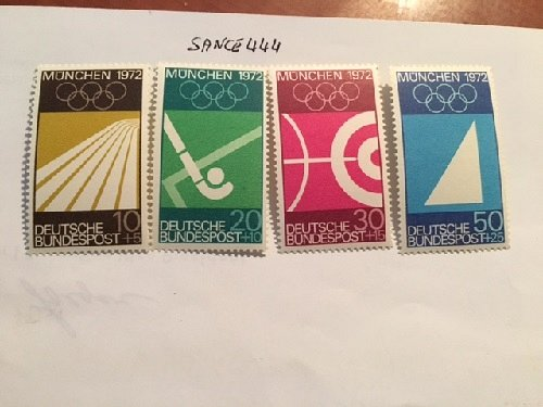 Germany Olympic Games Munich 1972 mnh 1969