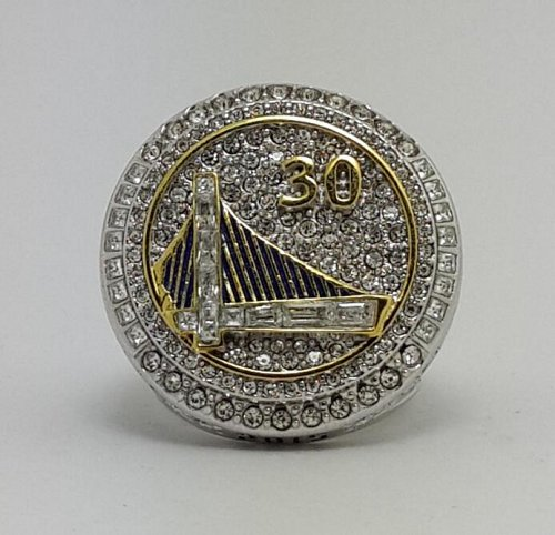 2015 Golden State Warriors NBA Basketball Championship ring Size 8-14 Solid Back Gift