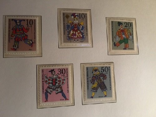 Germany Welfare Puppets and Christmas mnh 1970