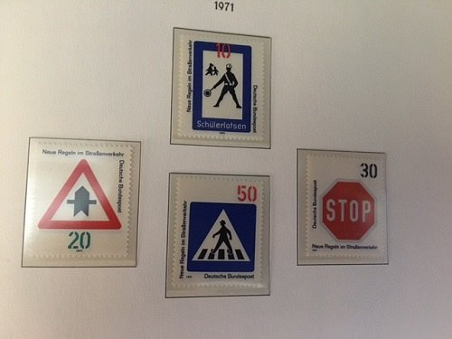 Germany New traffic rules mnh 1971