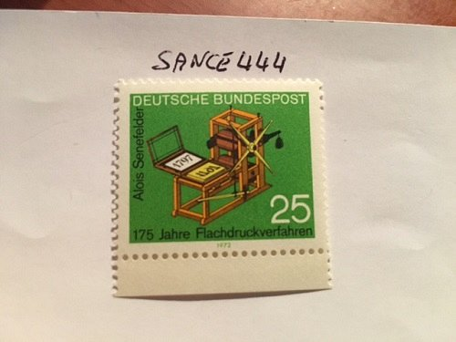 Germany Alois Senefelder Printing mnh 1972