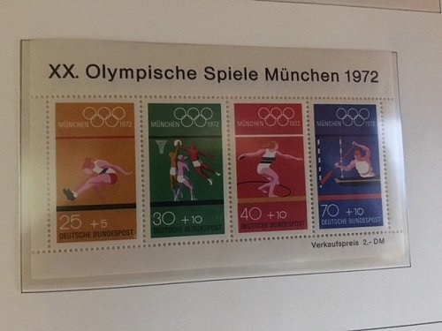 Germany Olympic Games Munich s/s mnh 1972